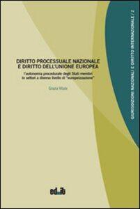 Diritto processuale nazionale e diritto dell'Unione europea