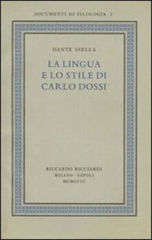 Capturtokyoedition.it La lingua e lo stile di Carlo Dossi del volume Ricciardi, «Documenti di filologia», 3, 1958. Ediz. in facsimile Image