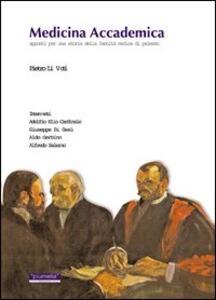 Medicina accademica. Appunti per una storia della Facoltà medica di Palermo