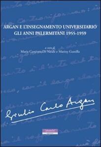 Argan e l'insegnamento universitario. Gli anni palermitani 1955-1959