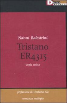 Tristano - Nanni Balestrini - copertina