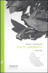 Scritti omeopatici 1795-1833