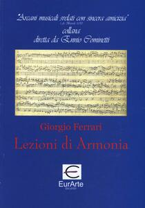 Lezioni di armonia - Giorgio Ferrari - copertina