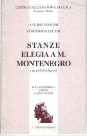 Stanze. Elegia a M. Montenegro