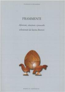 Frammenti, aforismi, citazioni e proverbi selezionati da Savino Borreri - Savino Borreri - copertina