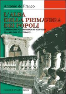 L' alba della primavera dei popoli - Antonio De Franco - copertina