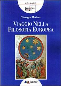 Viaggio nella filosofia europea - Giuseppe Bailone - copertina