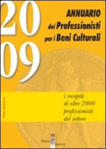 Annuario dei professionisti per i beni culturali - copertina