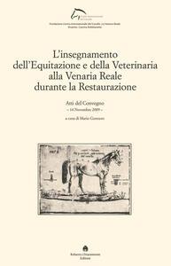L' insegnamento dell'equitazione e della veterinaria alla Venaria Reale durante la Restaurazione - copertina