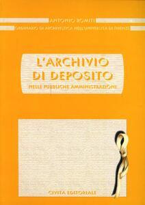 L' archivio di deposito nelle pubbliche amministrazioni - Antonio Romiti - copertina
