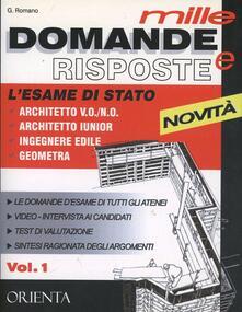 Mille domande e risposte. Lesame di stato architetti, ingegneri, geometri. Con DVD.pdf