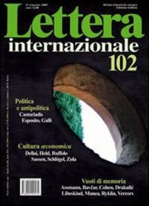 Lettera Internazionale. Vol. 102 - copertina