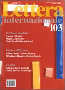 Lettera Internazionale. Vol. 103
