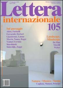Lettera Internazionale. Vol. 105
