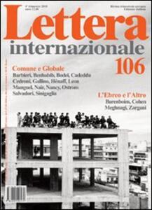 Lettera Internazionale. Vol. 106 - copertina