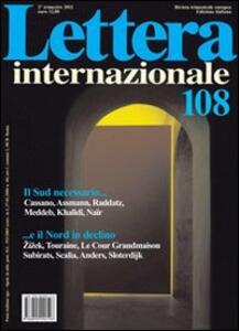 Lettera internazionale. Vol. 108 - copertina