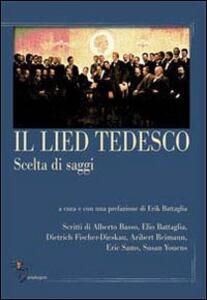 Il lied tedesco. Scelta di saggi. Vol. 1: L'Ottocento. - copertina