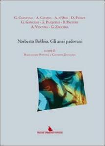 Norberto Bobbio. Gli anni padovani - copertina