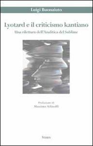 Lyotard e il criticismo kantiano. Una rilettura dell'analitica del sublime
