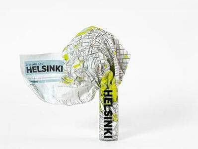 Crumpled city map. Helsinki. Ediz. multilingue