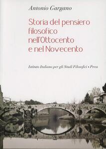 Storia del pensiero filosofico nell'Ottocento e nel Novecento