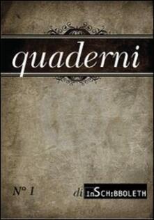 Quaderni di Inschibboleth (2012). Vol. 1 - copertina