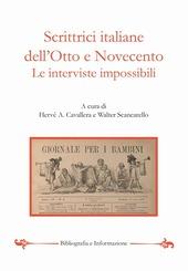 Scrittrici italiane dell'Otto e Novecento. Le interviste impossibili