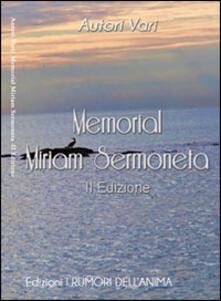 Memorial Miriam Sermoneta - copertina