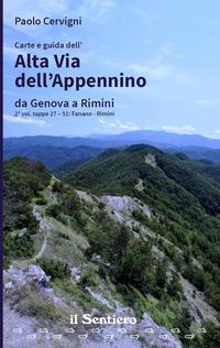 Carte e guida dell'Alta Via dell'Appennino da Genova a Rimini. Vol. 2: Fanano-Rimini. - Cervigni Paolo - wuz.it