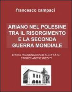 Ariano nel Polesine tra il Risorgimento e la Seconda guerra mondiale