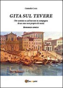 Gita sul Tevere (Tre uomini su un barcone in compagnia di un cane non proprio di razza)