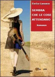 Sembra che le cose attendano - Enrico Lanzara - copertina