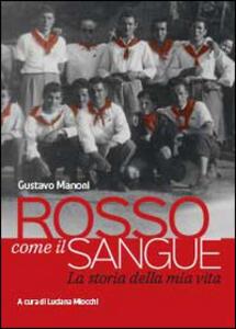 Rosso come il sangue - Gustavo Manoni - copertina