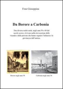 Da Borore a Carbonia - Giuseppina Frau - copertina