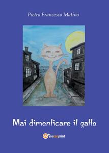 Mai dimenticare il gatto - Pietro Francesco Matino - copertina