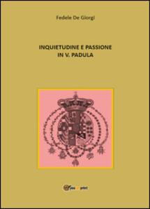 Inquietudine e passione in Vincenzo Padula - Fedele De Giorgi - copertina