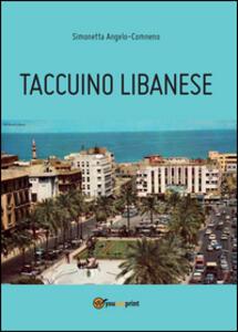 Taccuino libanese - Simonetta Angelo-Comneno - copertina