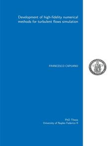 Development of high-fidelity numerical methods for turbulent flows simulation