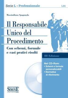 Osteriacasadimare.it Il responsabile unico del procedimento. Con CD-ROM Image