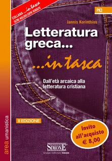 Camfeed.it Letteratura greca. Dall'età arcaica alla letteratura cristiana Image