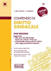 Compendio di diritto sindacale - Del Giudice Federico Mariani Federico - wuz.it