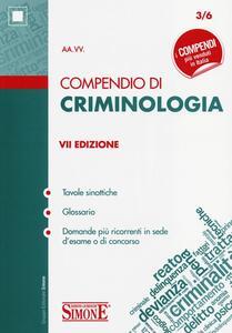 Compendio di criminologia