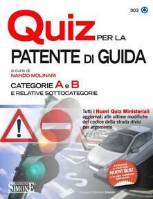Winniearcher.com Quiz per la patente di guida. Categorie A e B e relative sottocategorie Image
