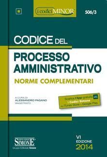 Amatigota.it Codice del processo amministrativo. Ediz. minore Image