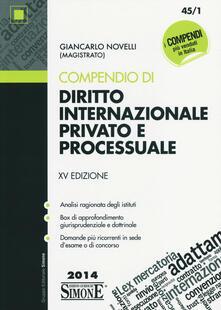 Ristorantezintonio.it Compendio di diritto internazionale privato e processuale Image