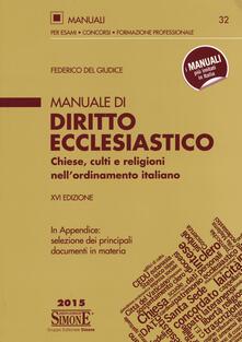 Daddyswing.es Manuale di diritto ecclesiastico. Chiese, culti e religioni nell'ordinamento italiano Image