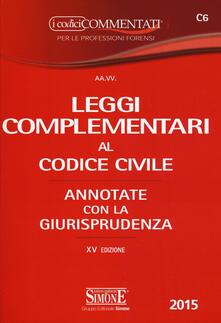 Winniearcher.com Leggi complementari al codice civile. Annotate con la giurisprudenza Image