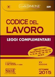 Premioquesti.it Codice del lavoro. Leggi complementari Image