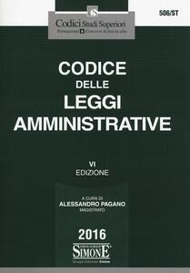 Codice delle leggi amministrative