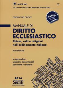 Antondemarirreguera.es Manuale di diritto ecclesiastico. Chiese, culti e religioni nell'ordinamento italiano Image